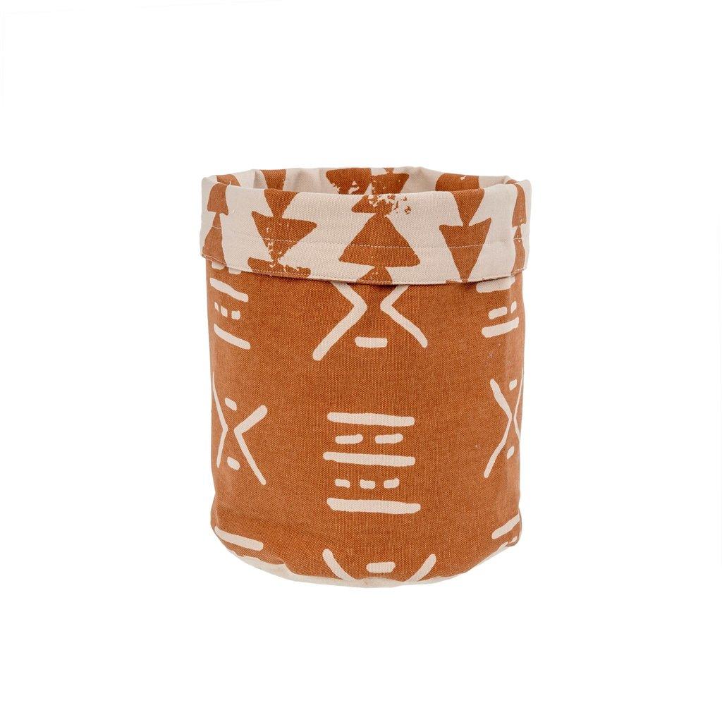Indaba Mali Fabric Basket Terracotta