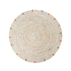 Indaba Cassia Seagrass Placemat, White