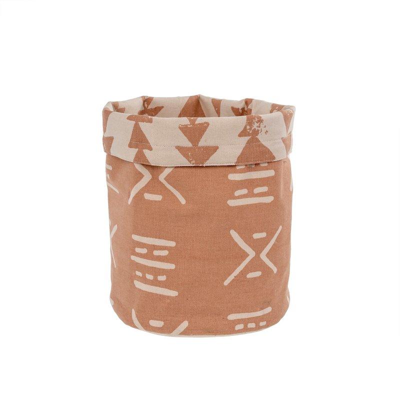 Indaba Mali Fabric Basket, Dusty Rose