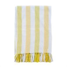 Indaba Cabana Stripe Throw, Yellow