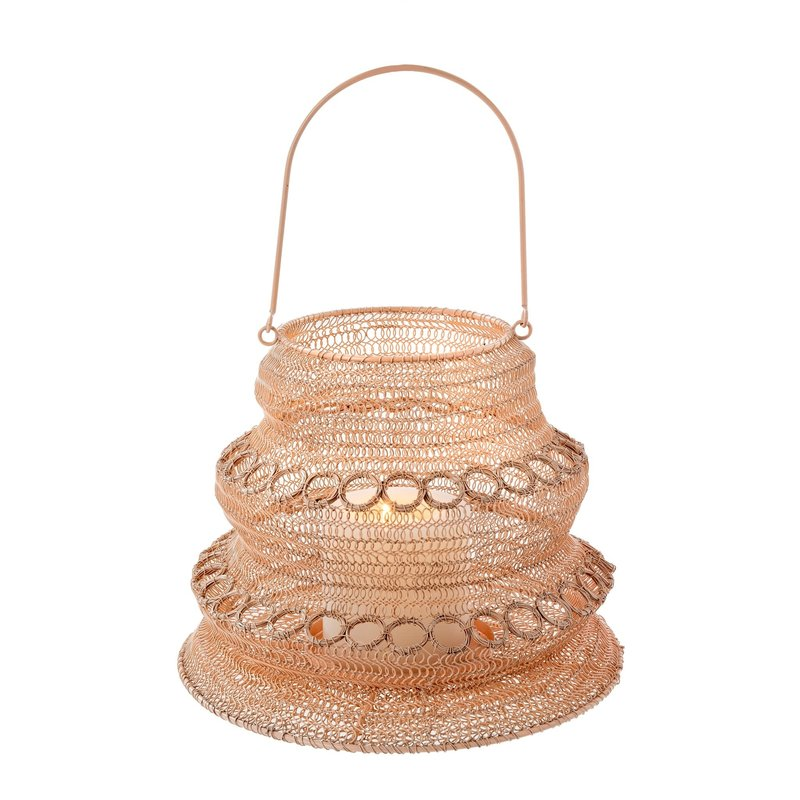 Indaba Wonderland Wire Lantern L, Blush