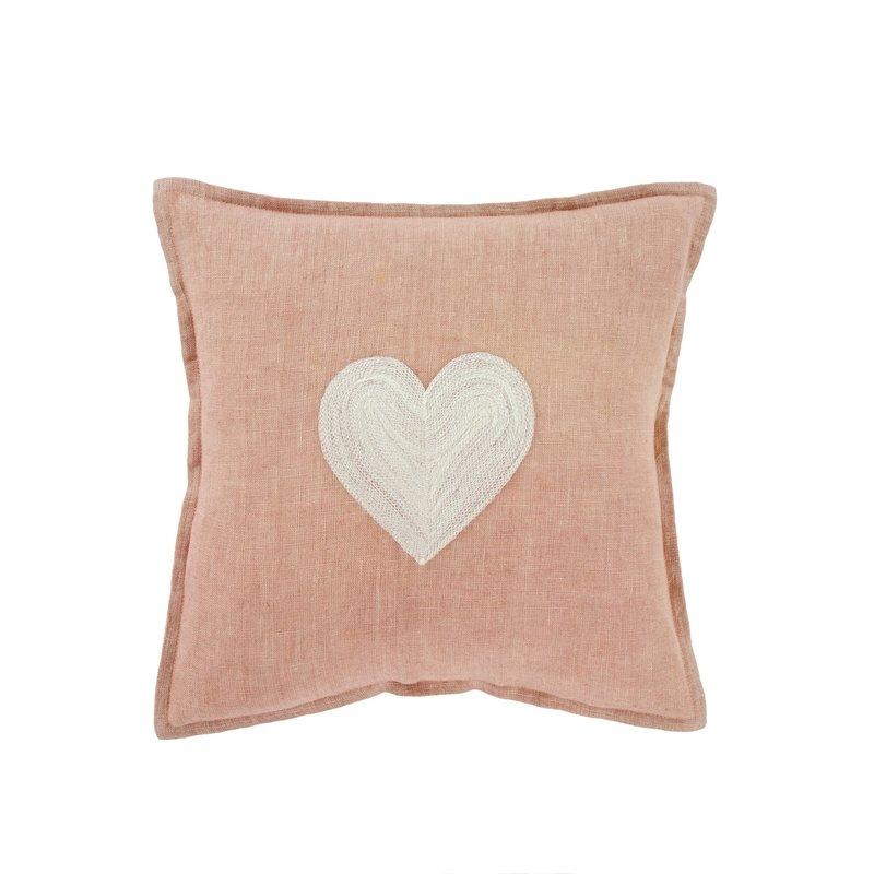 Indaba Heart Linen Pillow