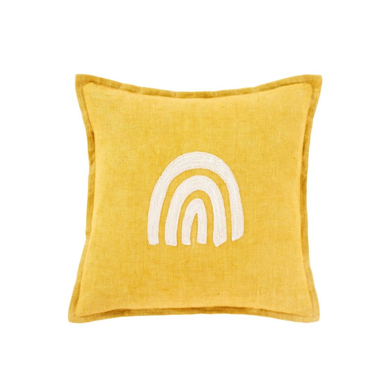 Indaba Rainbow Linen Pillow