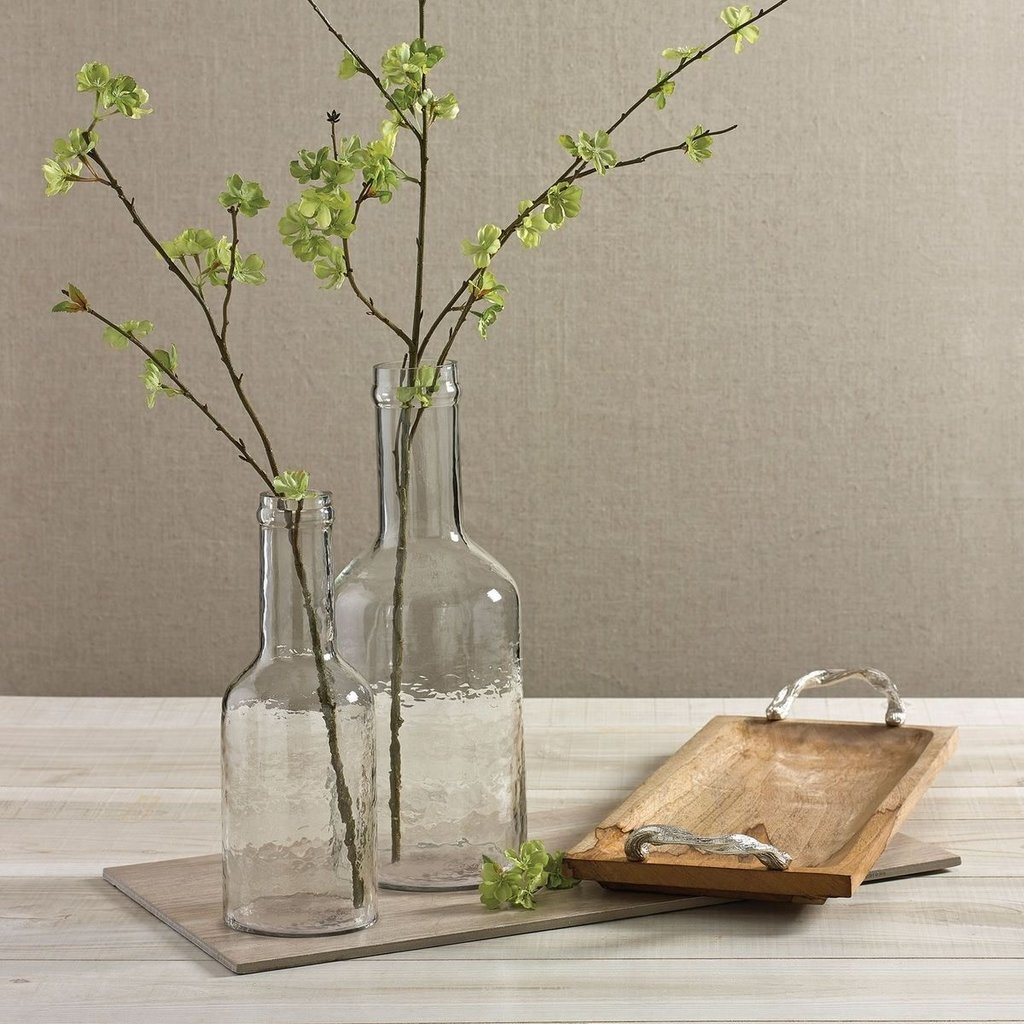 Park Designs Hammered Hand Blown Glass Bottle Vase - Short