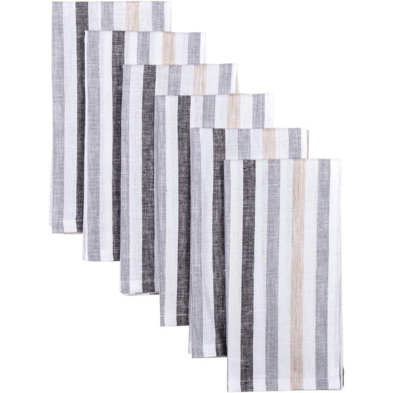 VHC Brands Blake Grey Napkin Set of 6