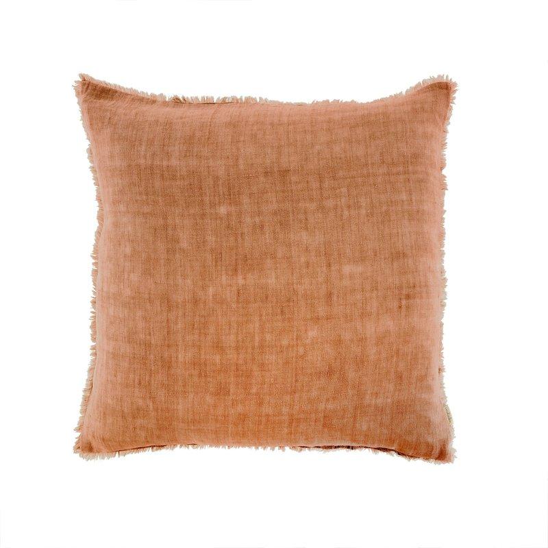 Indaba Lina Linen Pillow Melon