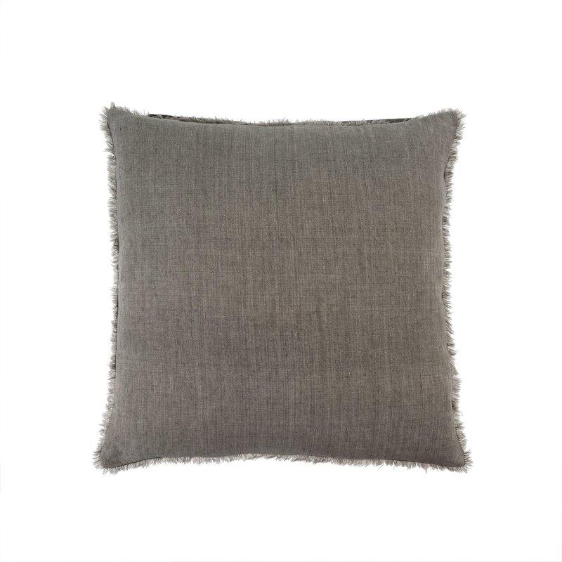 Indaba Lina Linen Pillow Warm Grey