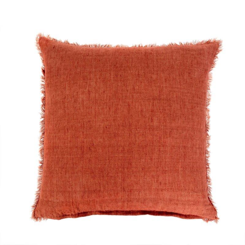 Indaba Lina Linen Pillow Rust