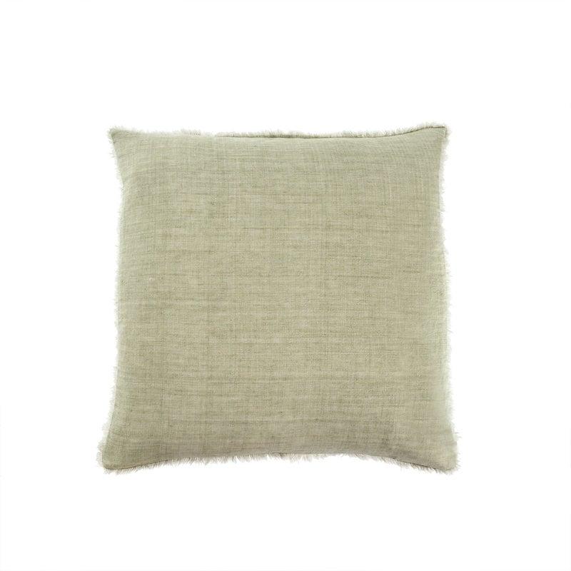 Indaba Lina Linen Pillow Olive