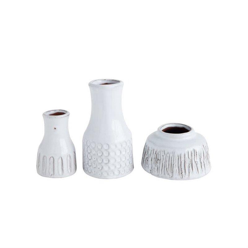 Bloomingville Terra-cotta Vases - White - Set of 3