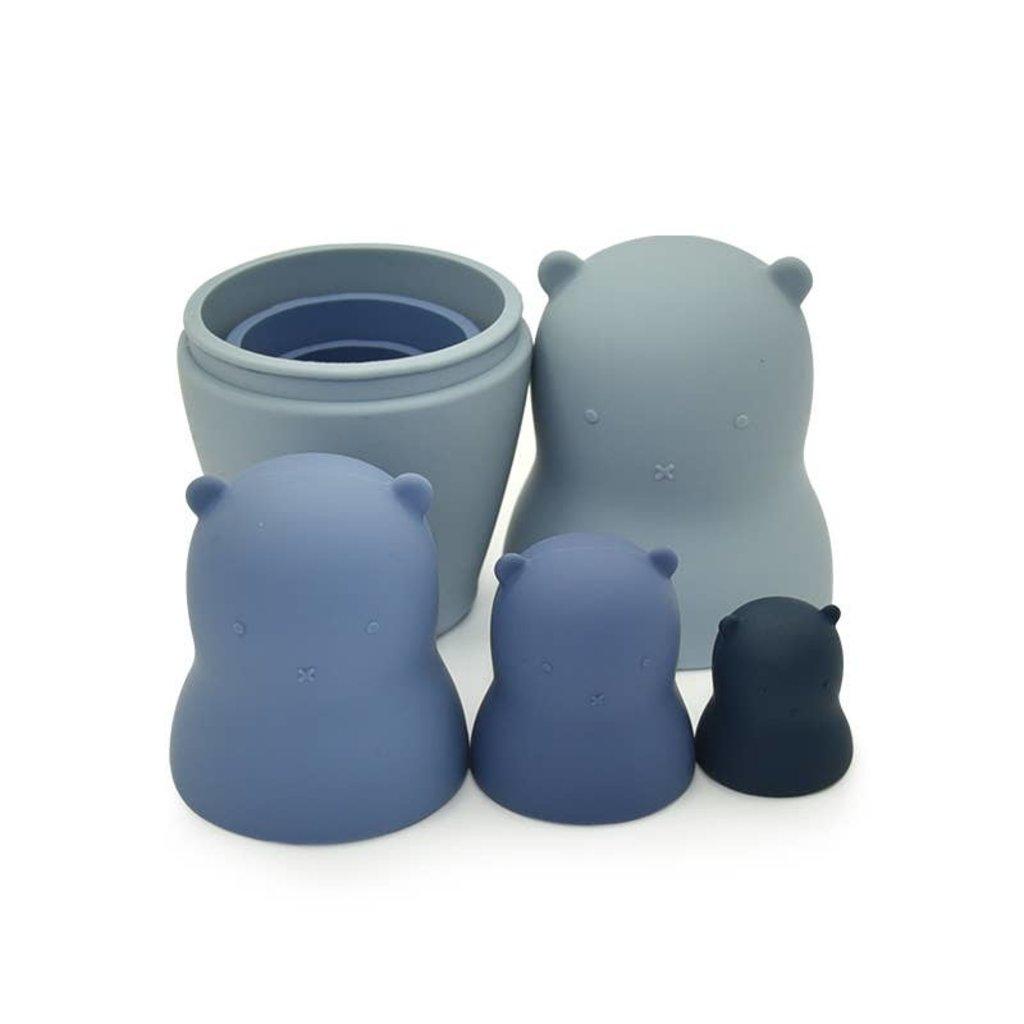 Bear Nesting Dolls - Silicone - Teether - Bath - Stacker