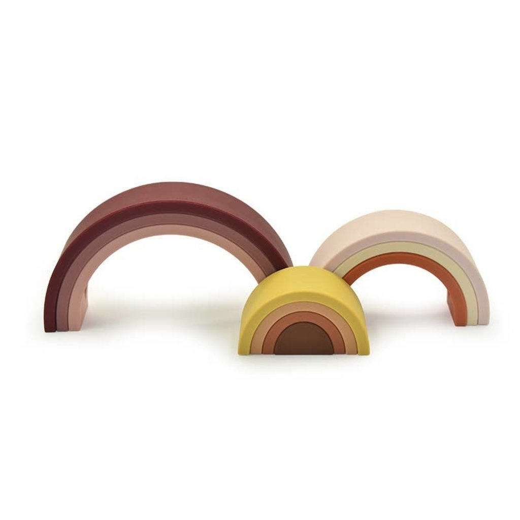 Faire - Little Teether Sedona Silicone Rainbow - Teether - Bath - Stacker - Sensory