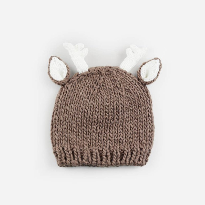 Faire - The Blueberry Hill Hartley Deer Tan   Acrylic Hand Knit  Baby Hat
