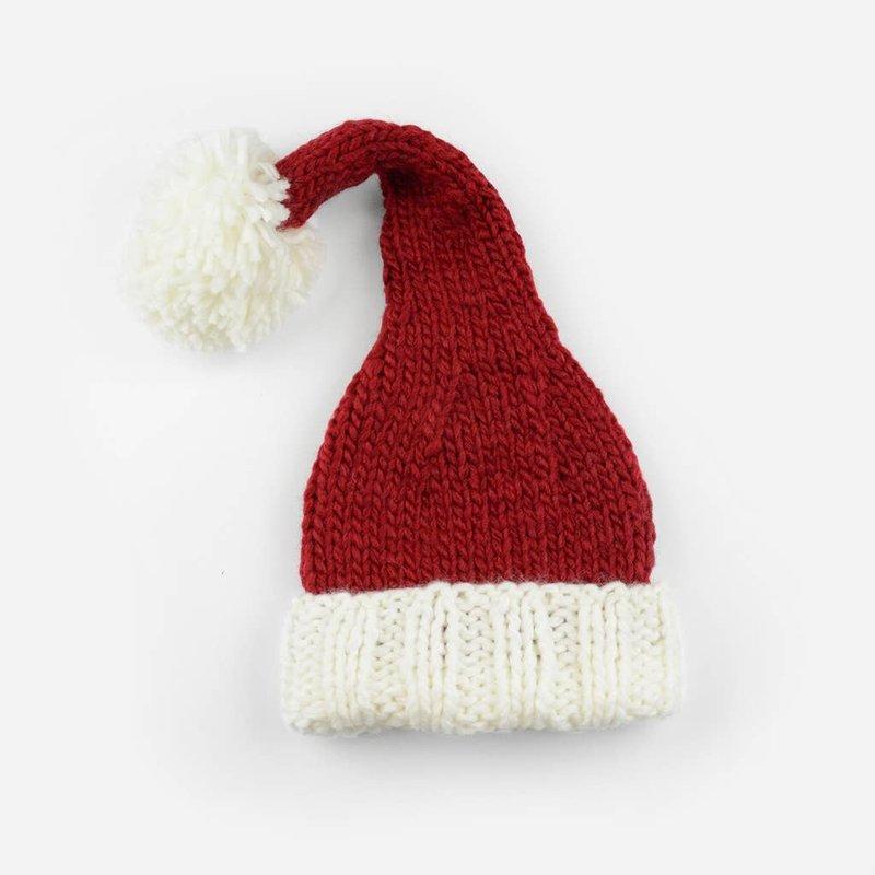 Faire - The Blueberry Hill Nicholas Santa   Acrylic Hand Knit Baby Hat