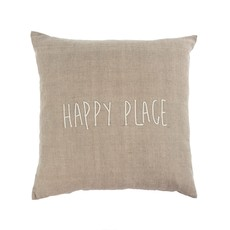 Indaba Happy Place Pillow, 20 x 20