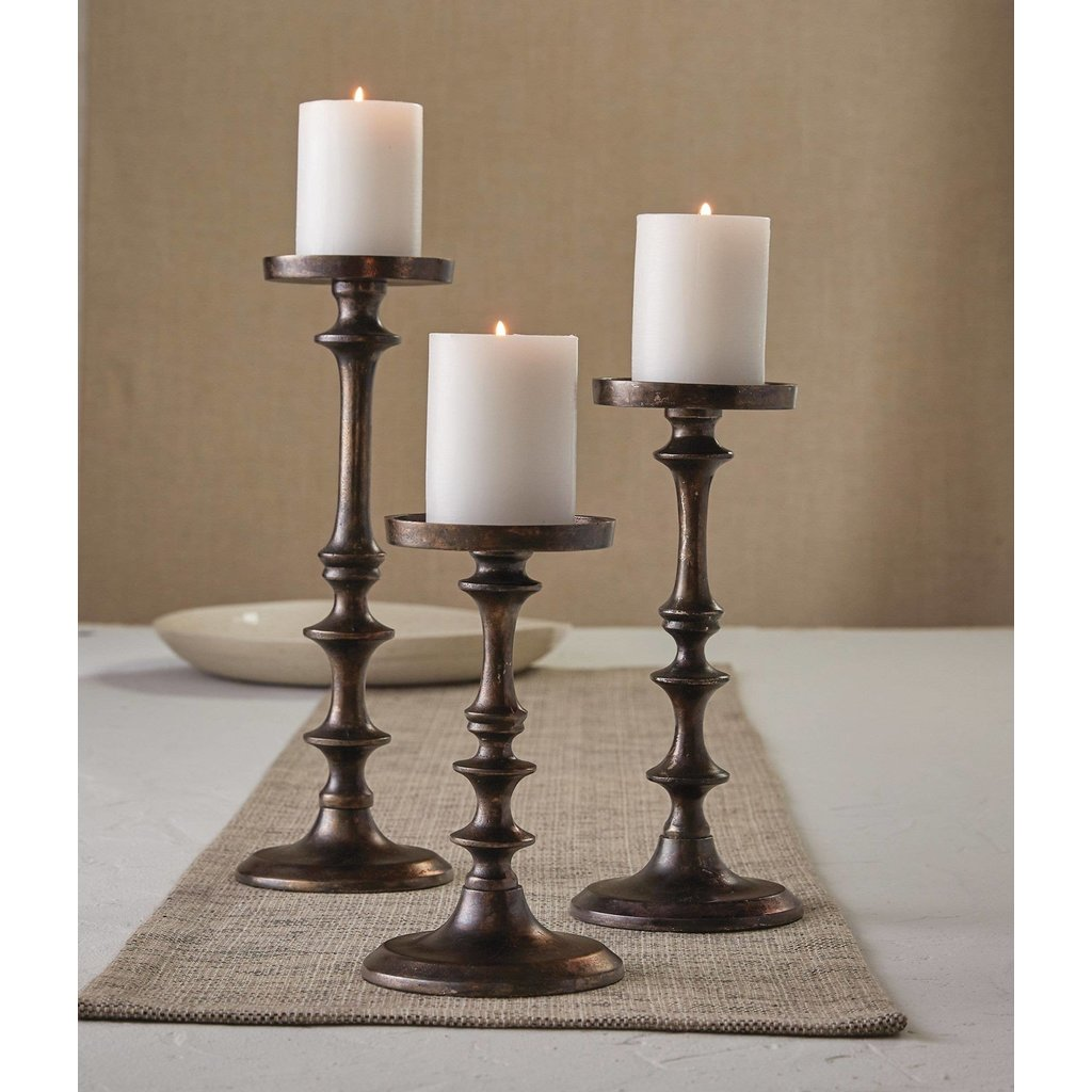 Split P Cast Metal Candle Holder - Tall