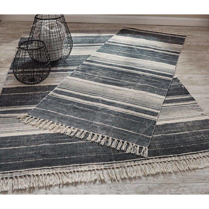 Split P Paintbrush Stripe Rug - Slate