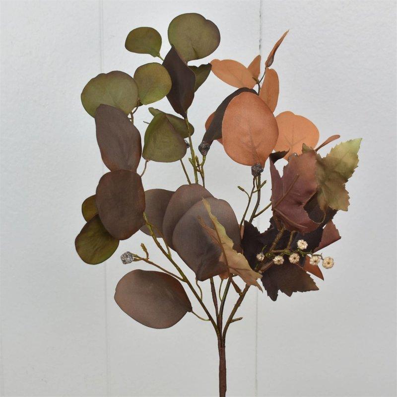 "David Christopher's Collection 23"" Warm Harvest Eucalyptus Maple Leaf Spray"