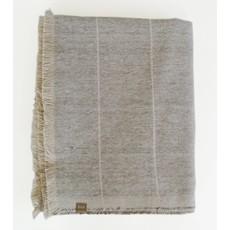 Raine and Humble Brushed Stone Grey Stripe Throw