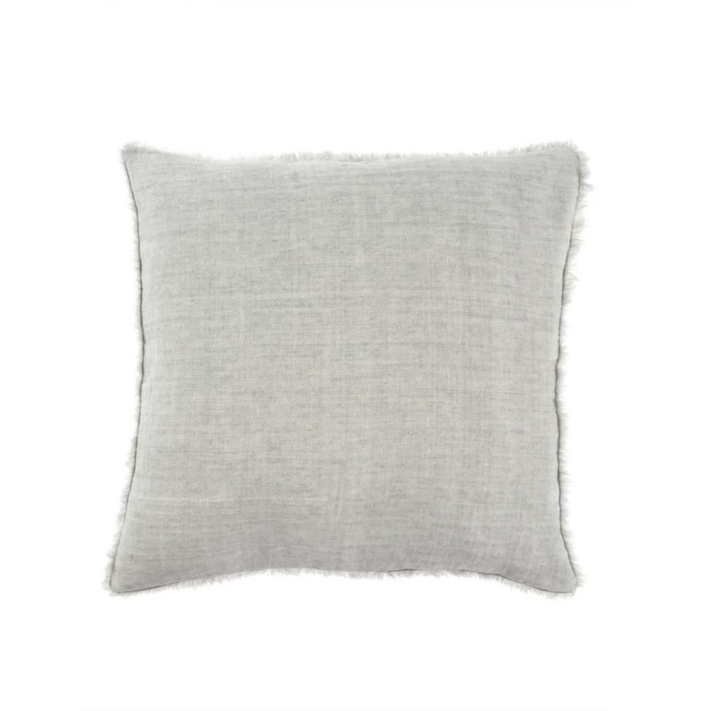 Indaba Lina Linen Pillow, Flint Grey