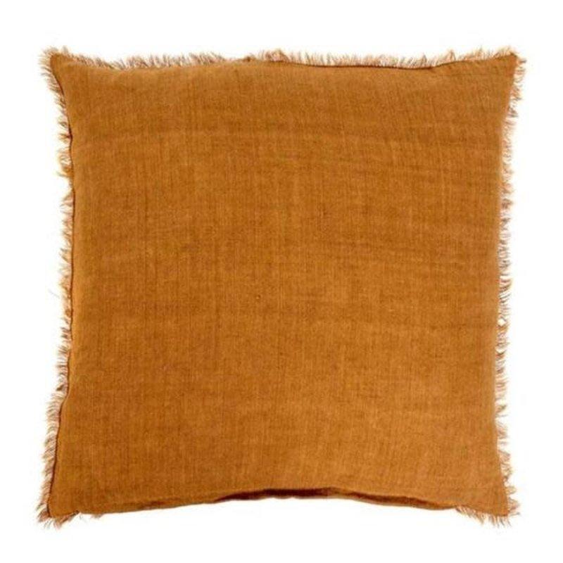 Indaba Lina Linen Pillow, Gold