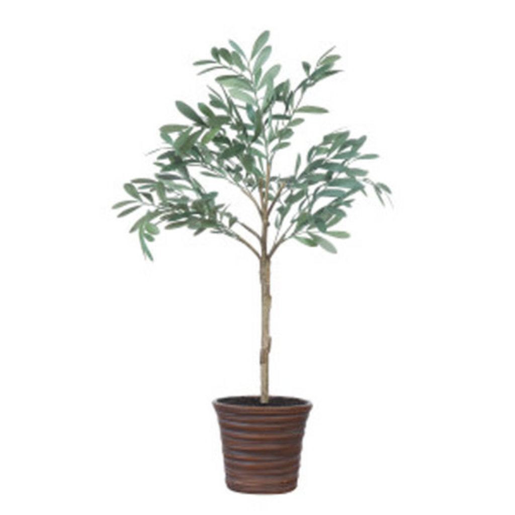 """Creative Coop 32""""H FAUX OLIVE TREE IN TERRA-COTTA POT"""
