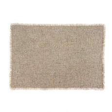 Indaba Selena Linen Placemat, Grey