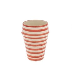 Indaba Moroccan Striped Cup, Light Pink