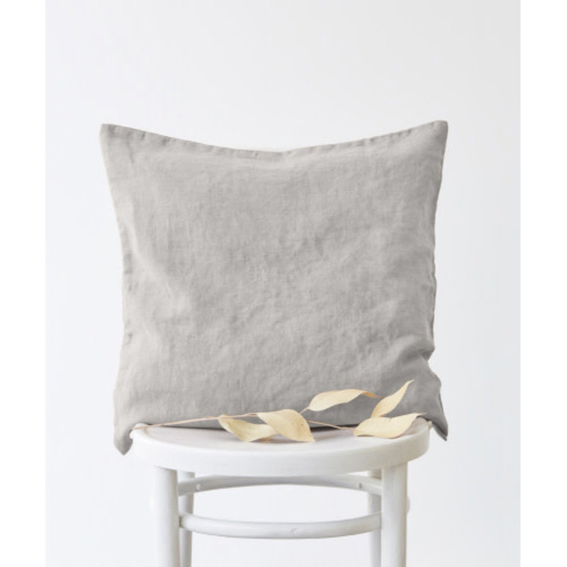 Linen Tales SILVER CUSHION COVER