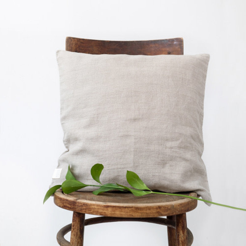 Linen Tales NATURAL CUSHION COVER