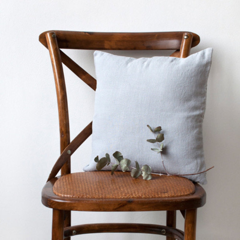 Linen Tales LIGHT GREY CUSHION COVER