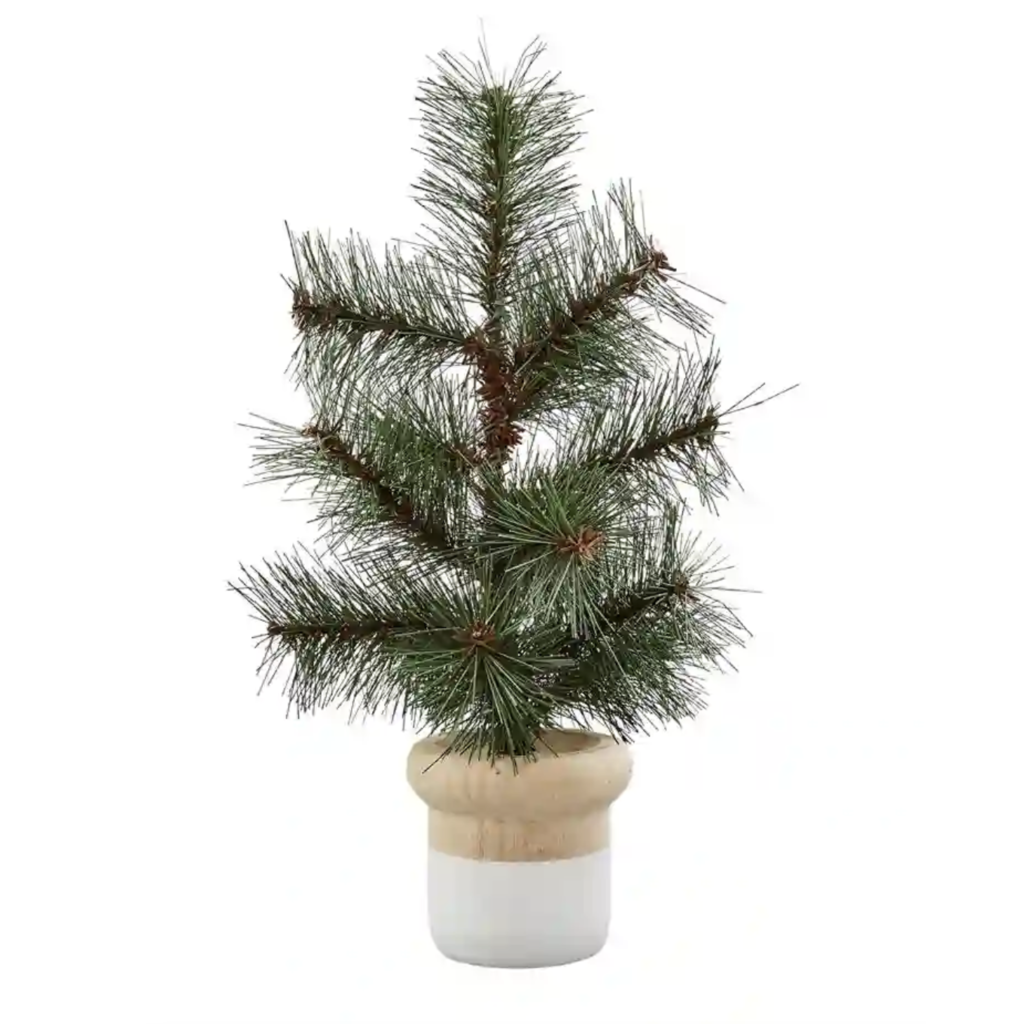 COLOR-BLOCK POTTED PINE TREE