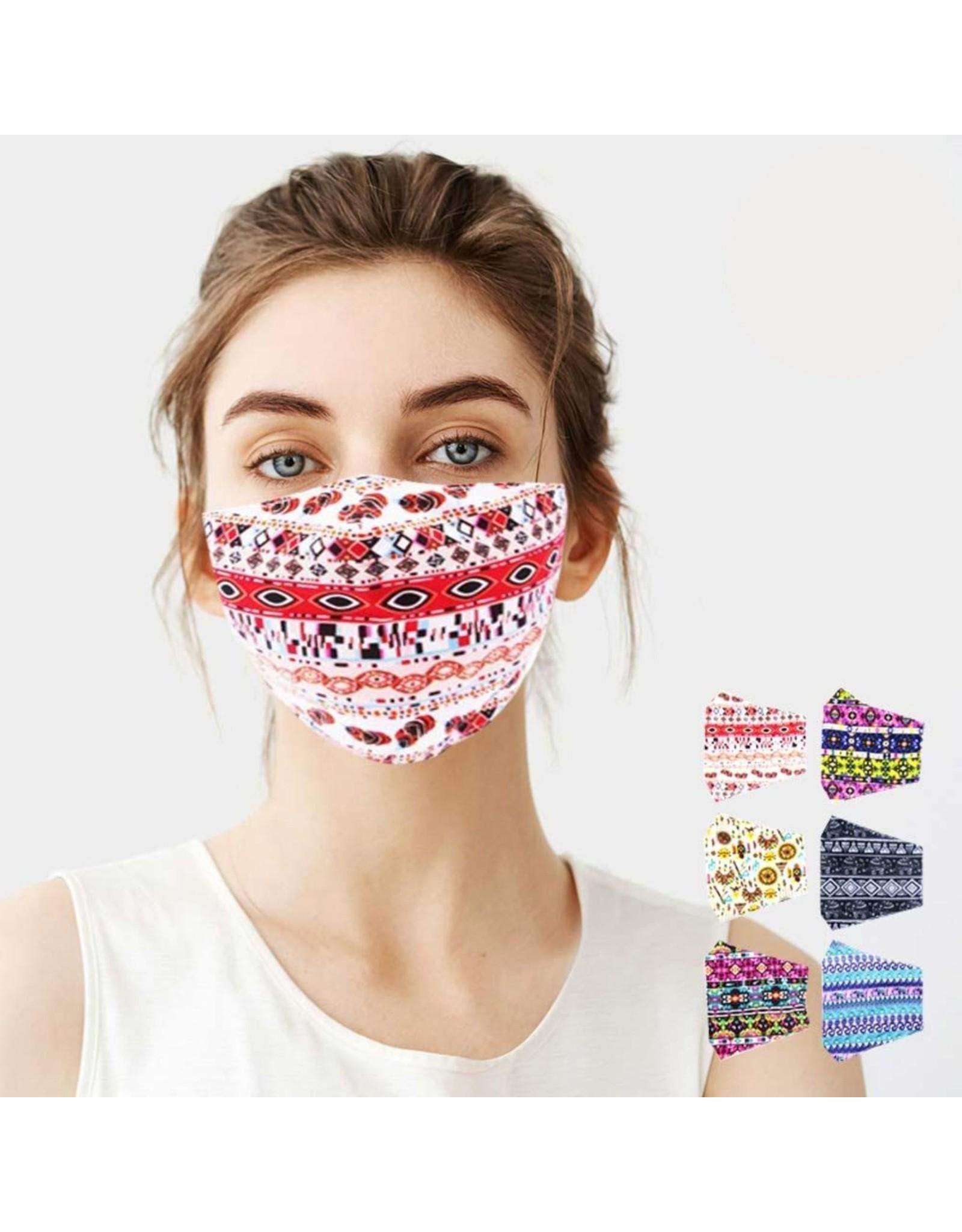 Tribal Pattern Cotton Mask