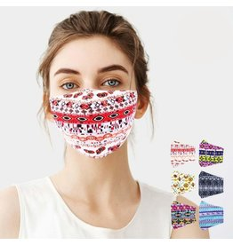 Tribal Pattern Cotton Mask
