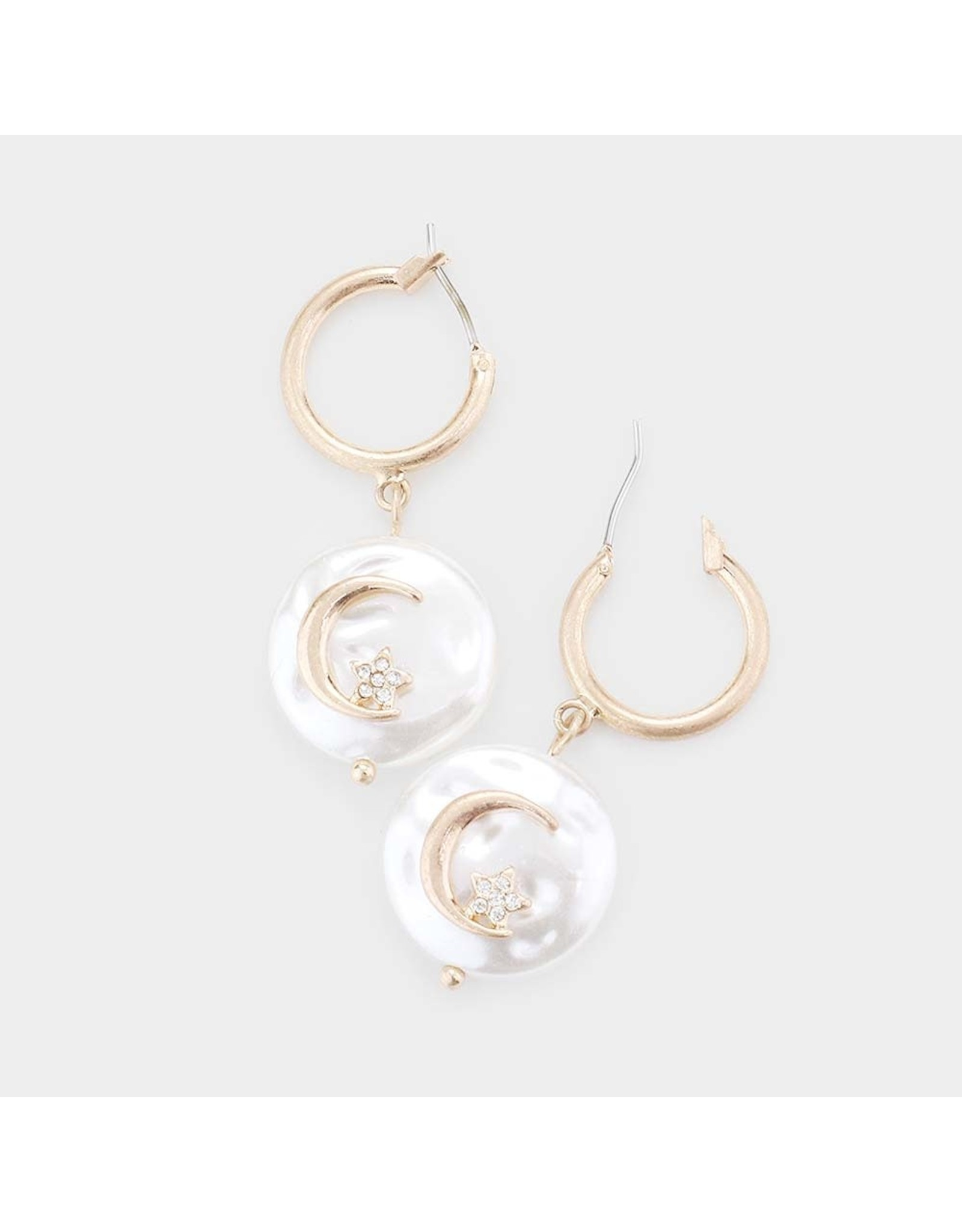 Moon Pearl Earrings