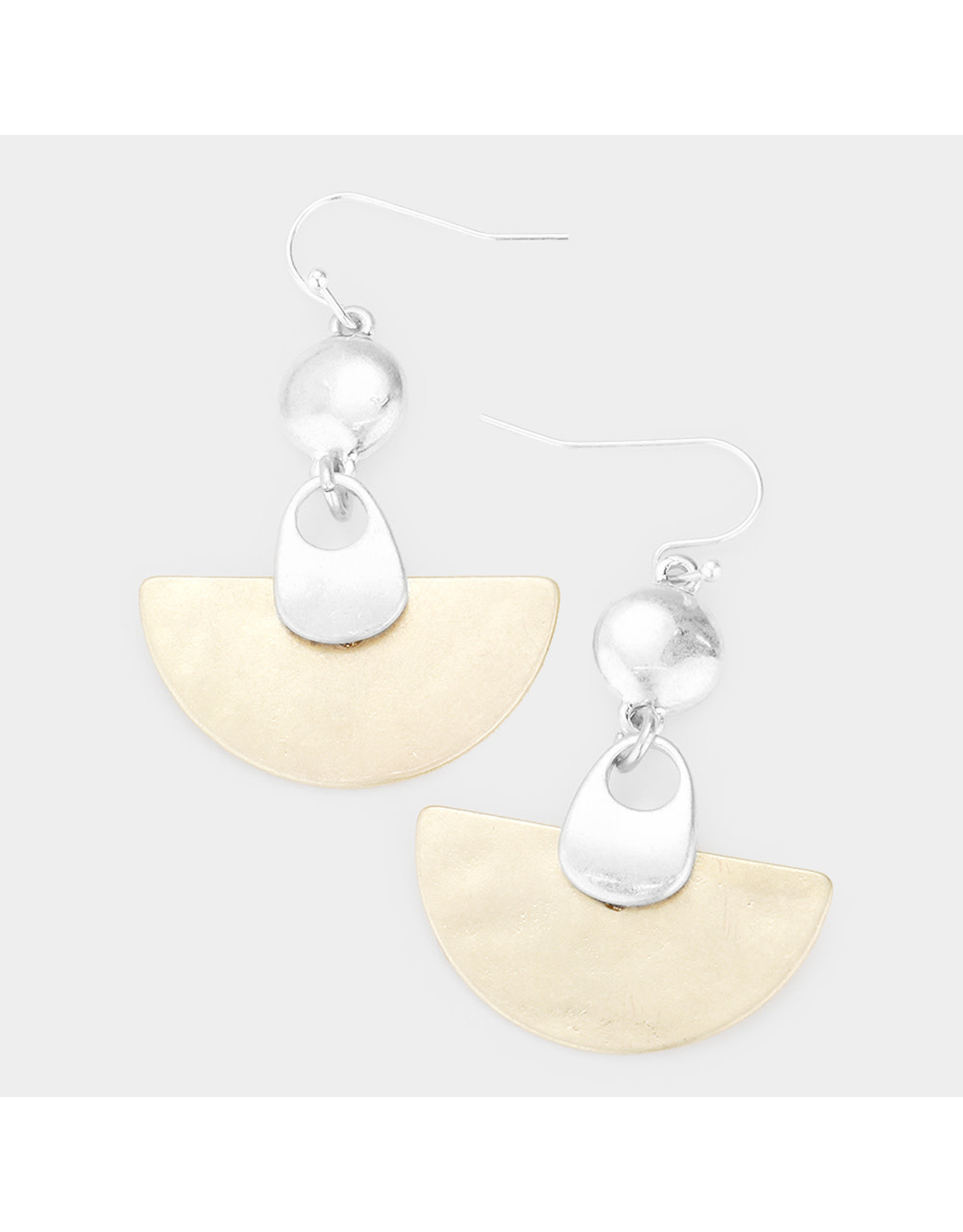 Abstract Link Dangle Earrings
