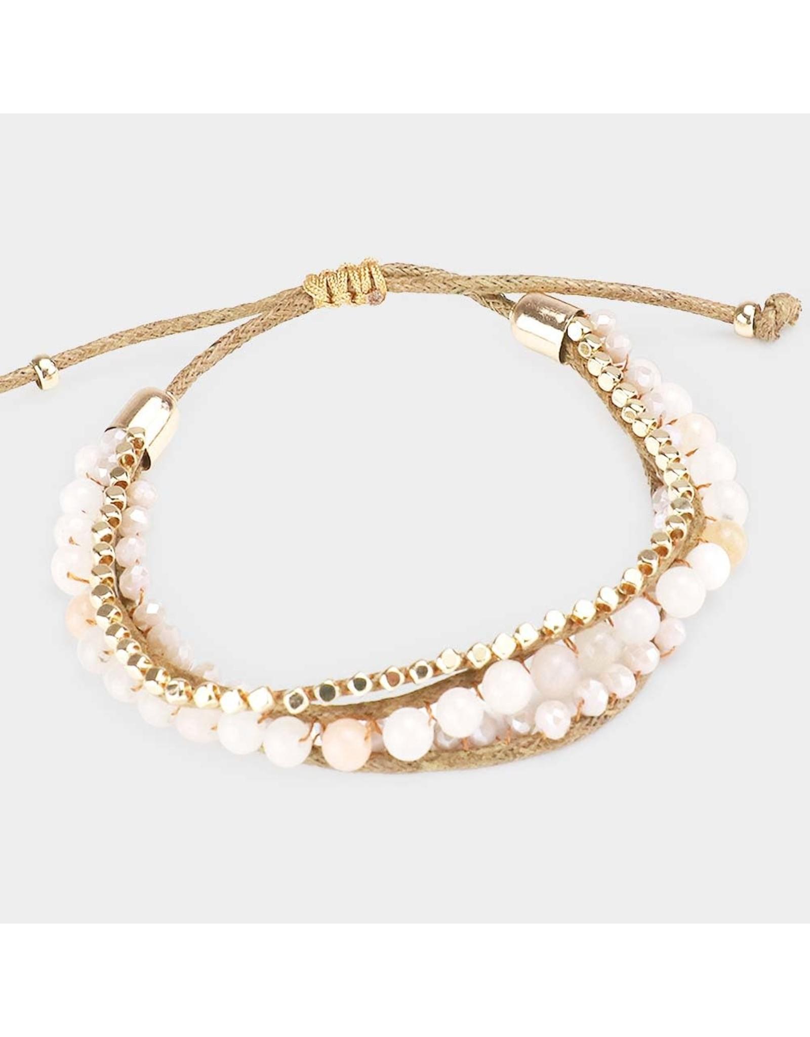 Semi-Precious Accent Adjustable Bracelet