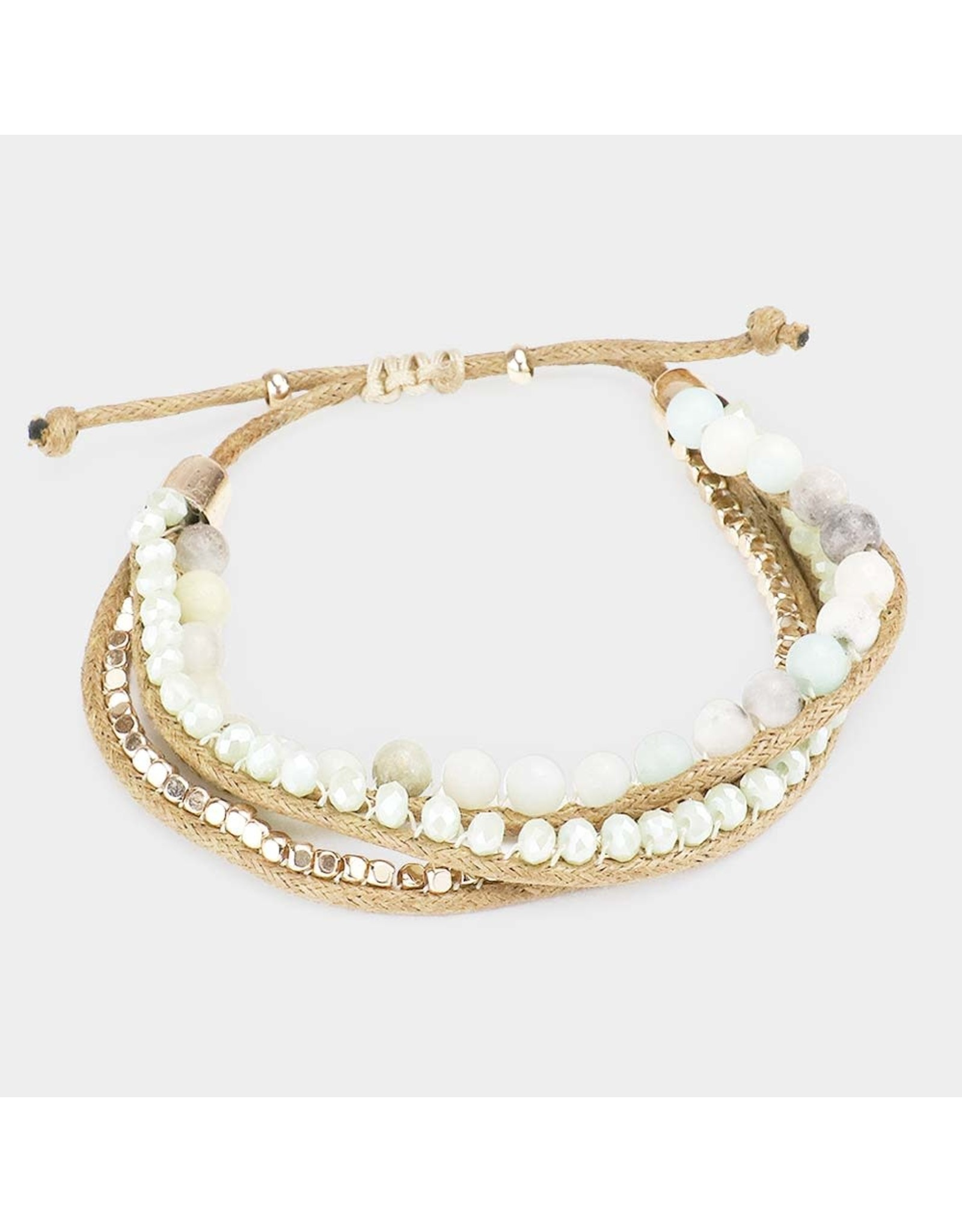Semi-Precious Accent Adjustable Bracelet