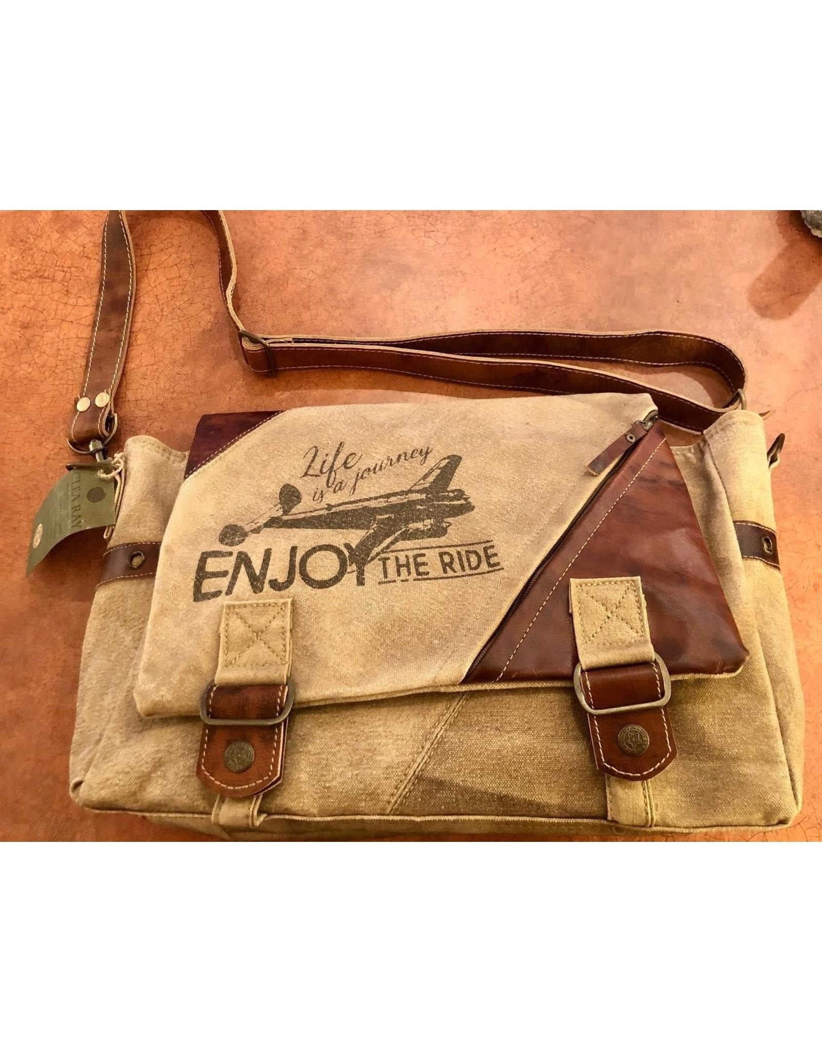 """Enjoy the Ride"" Messenger Bag"