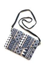 "Navy Tribal ""Envelope"" Crossbody"