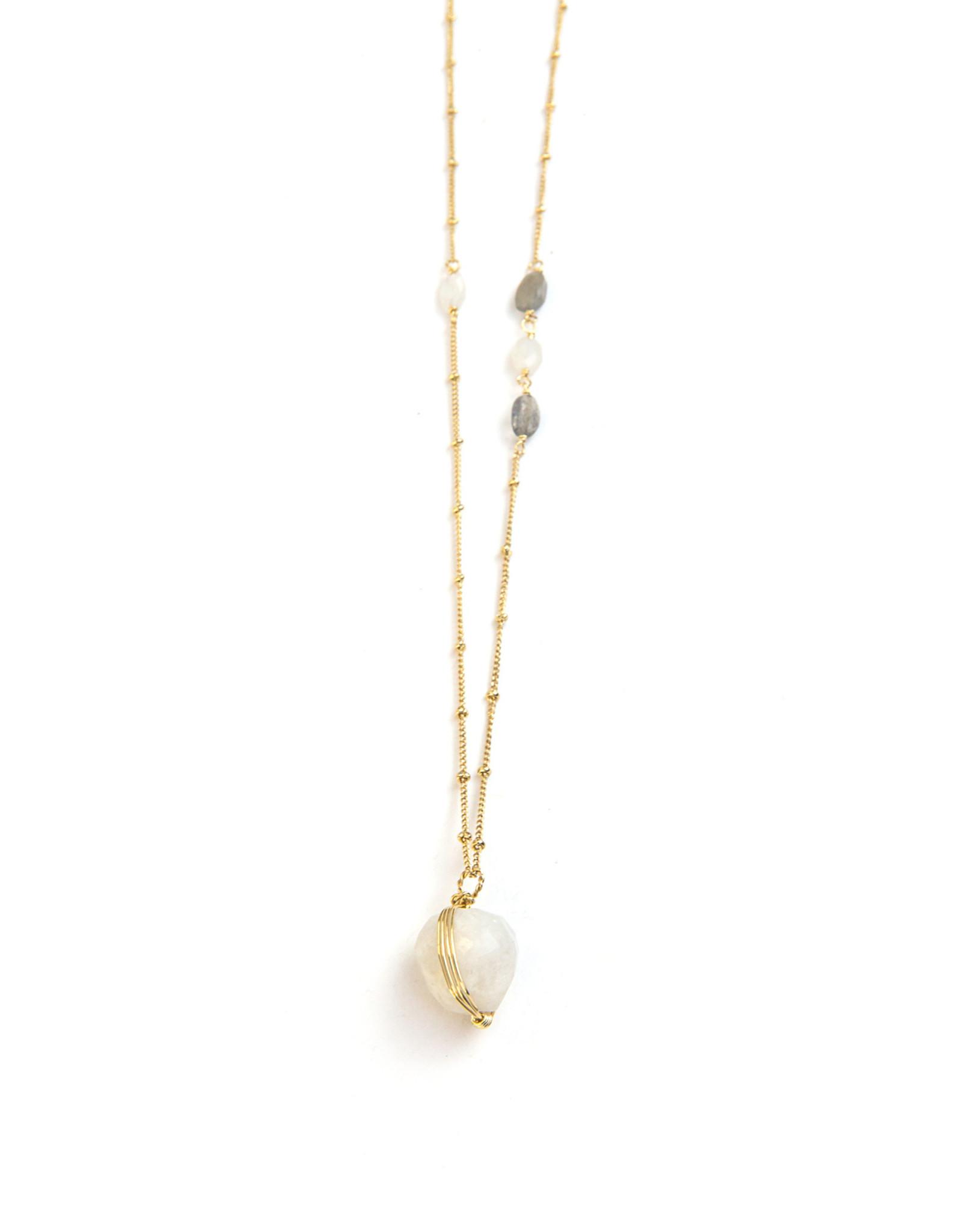 Moonstone & Labradorite Necklace