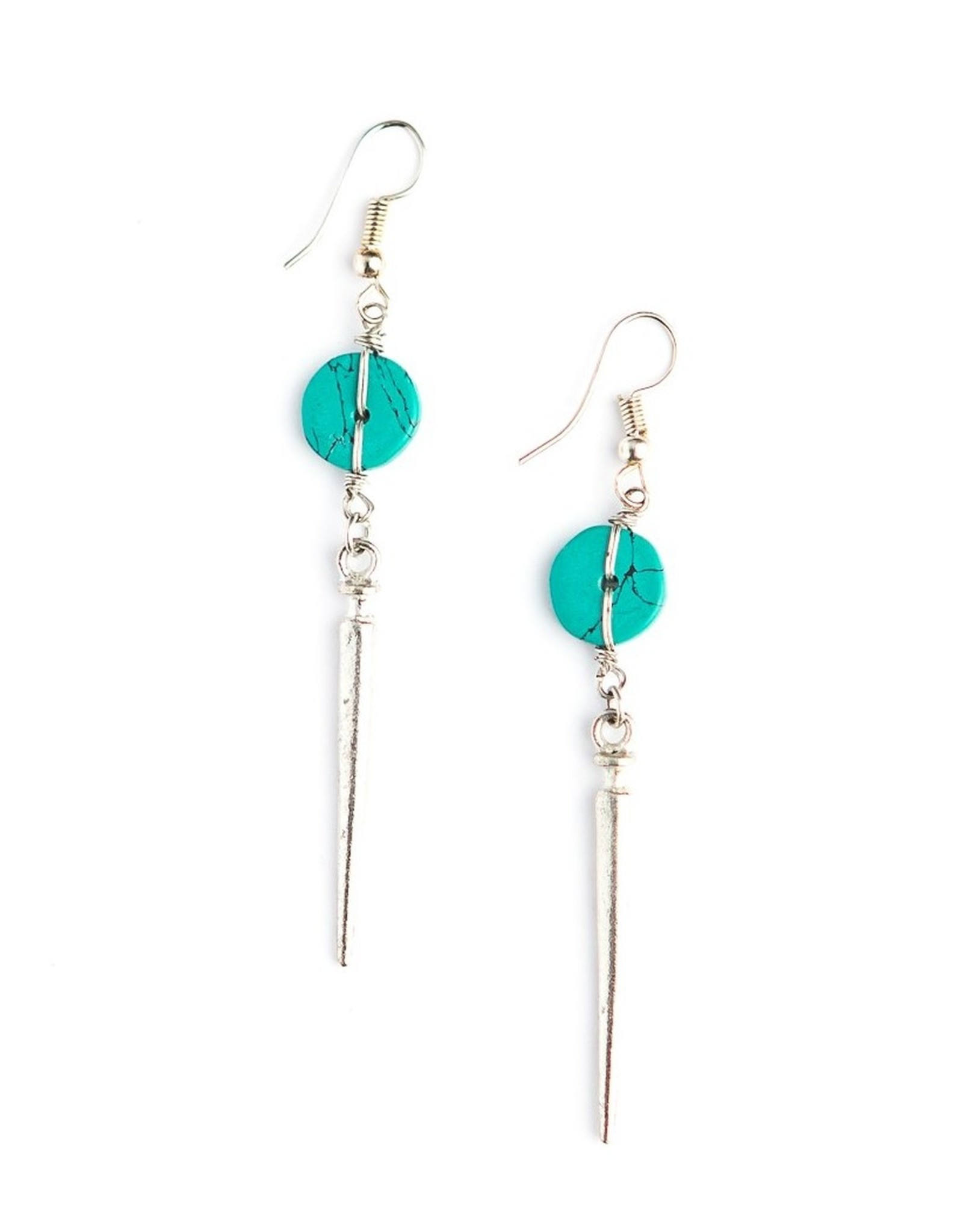 Pointed Turquoise Earrings