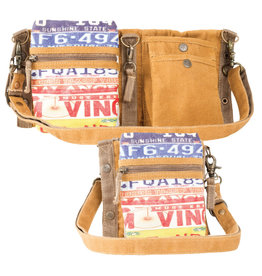 License Plate 3 Way Crossbody