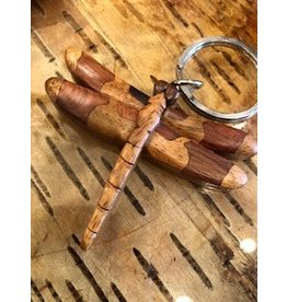 Wooden Dragonfly Keychain