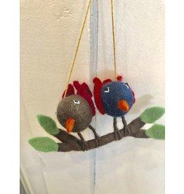 Handmade Felt Birds