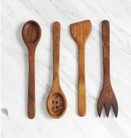 Wood-carved Serving Utensils