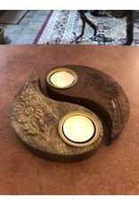 Yin Yang Tealight Candle Holder
