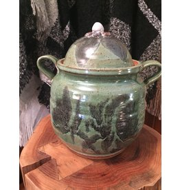 Green Pottery w/ Handles