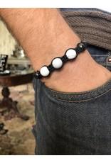 Magnetic Hematite & Howlite Bracelet