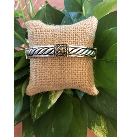 Designer Two Tone Stretch Bracelet